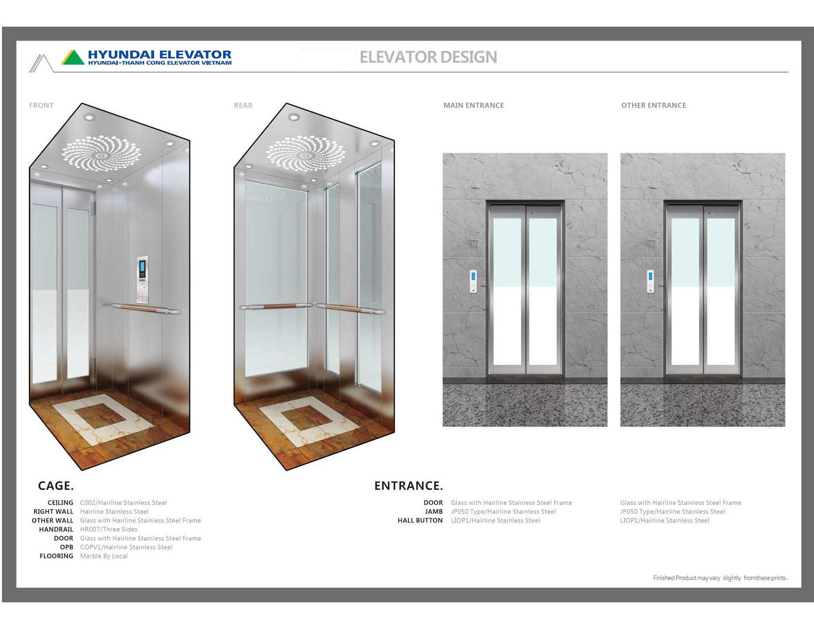Thang máy Home Series - dòng thang máy gia đình thương hiệu Hyundai